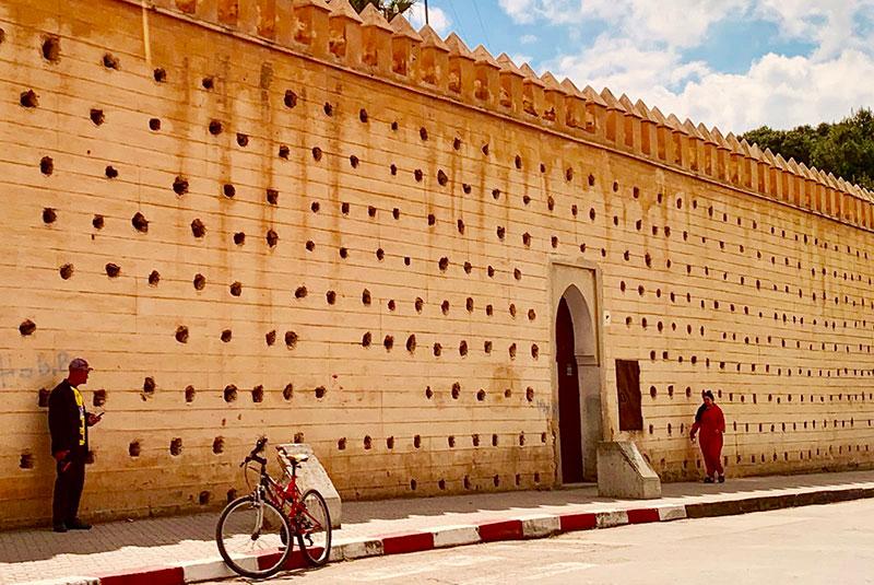 Medina wall in Fez, Morocco.