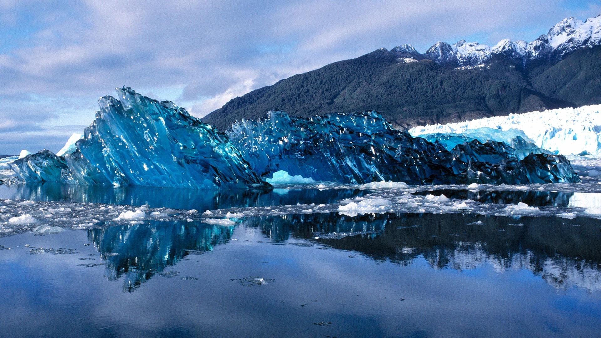 Newly-calved iceberg in Laguna San Rafael Lagoon National Park, Chile