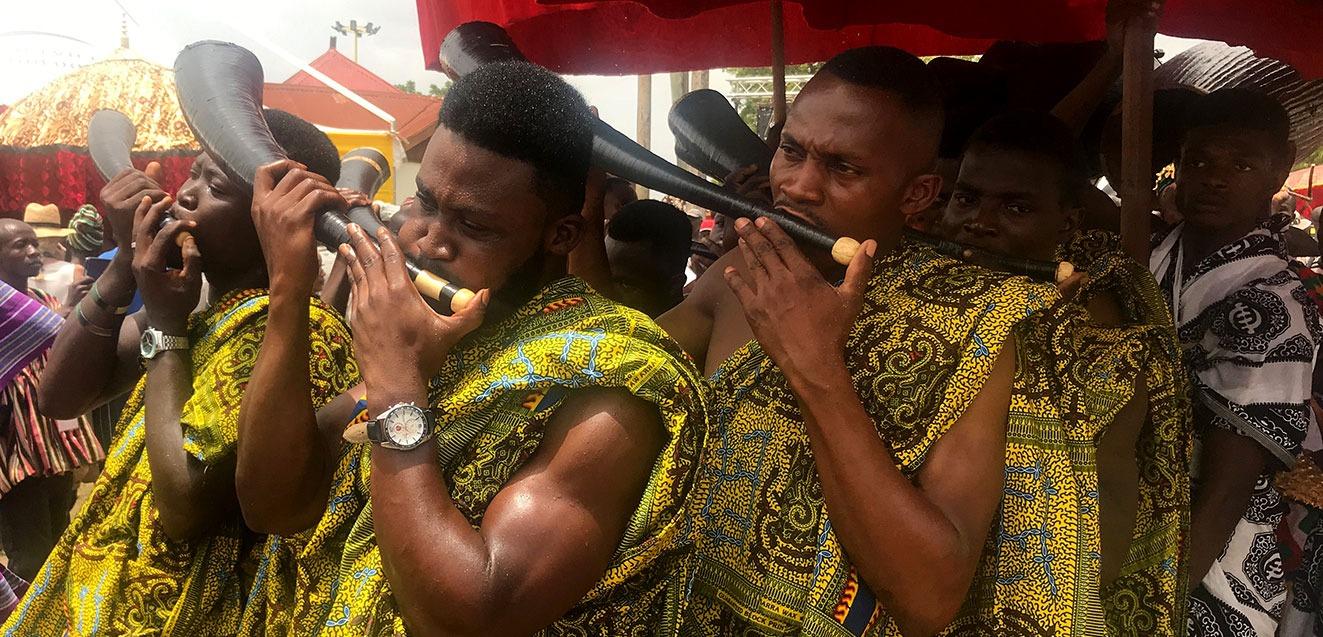 Horn players at the Akwasidae Festival