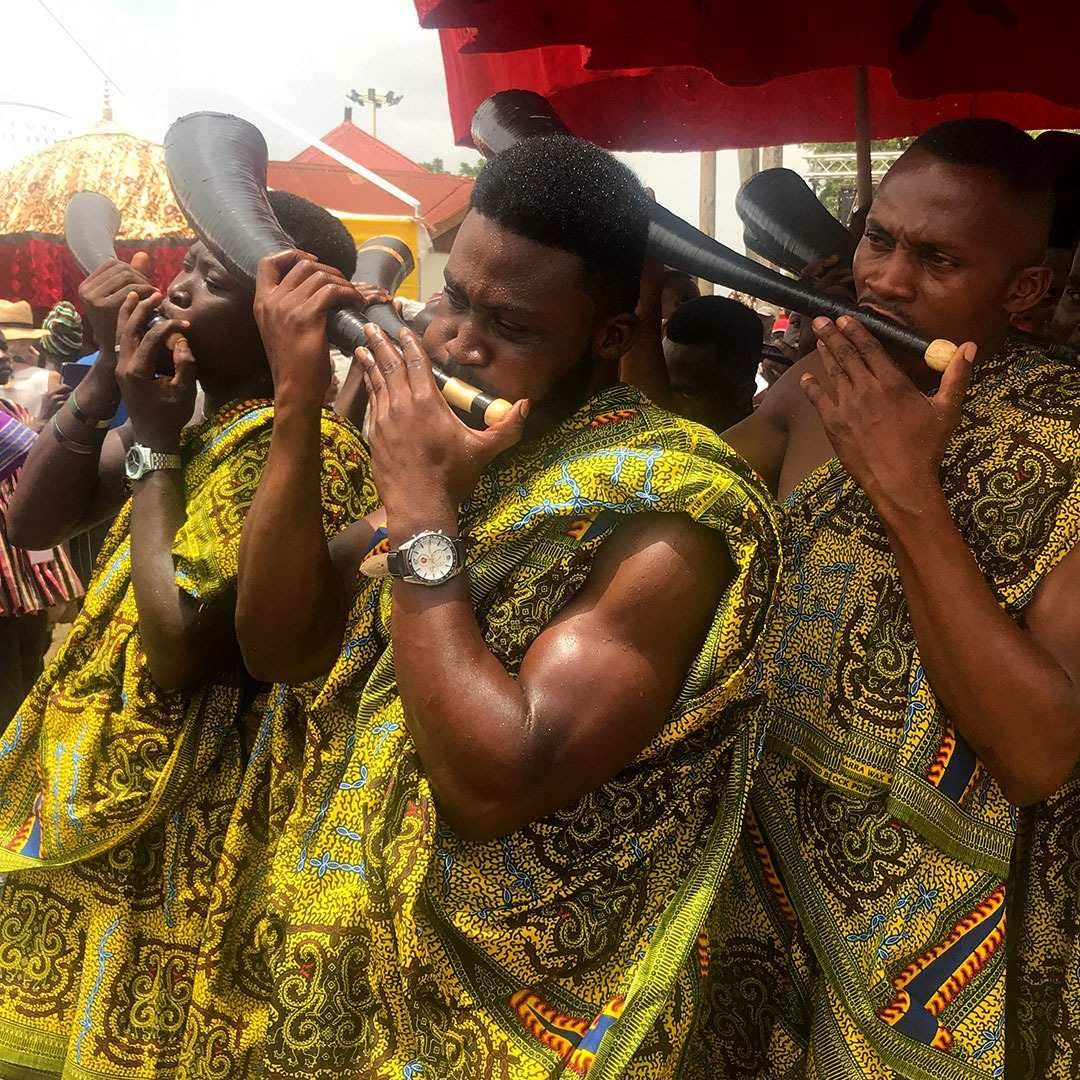 Horn players at the Akwasidae Festival