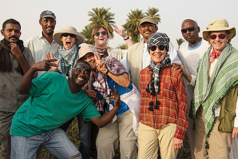 GeoEx travelers on group trip in Chad.