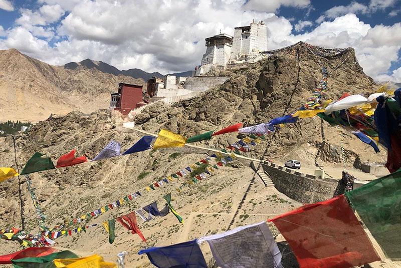 Prayer flags in Leh, India.