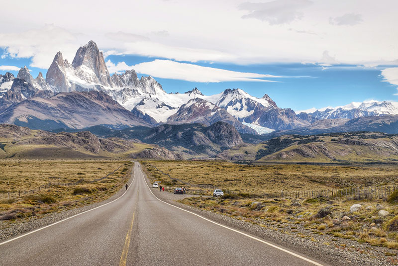 A mountain road in Patagonia
