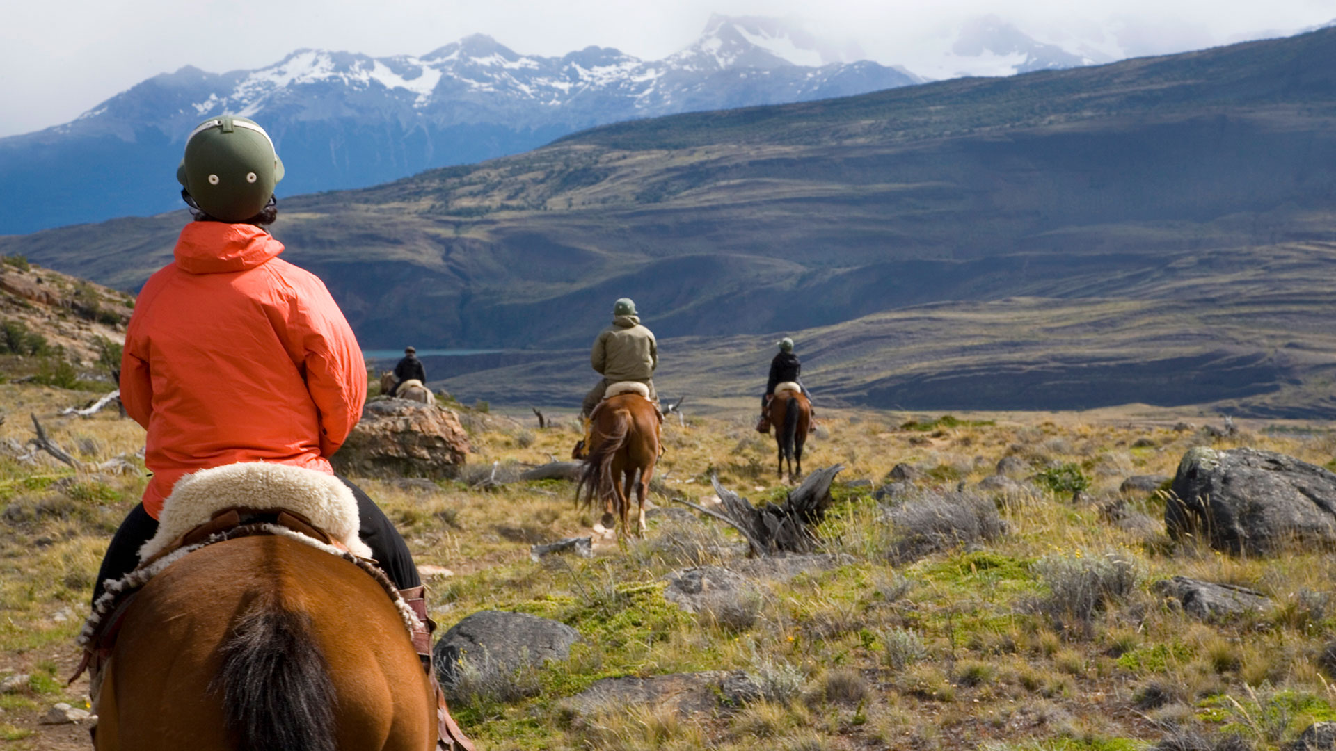Horseback riding near Estancia Cristina, Argentina
