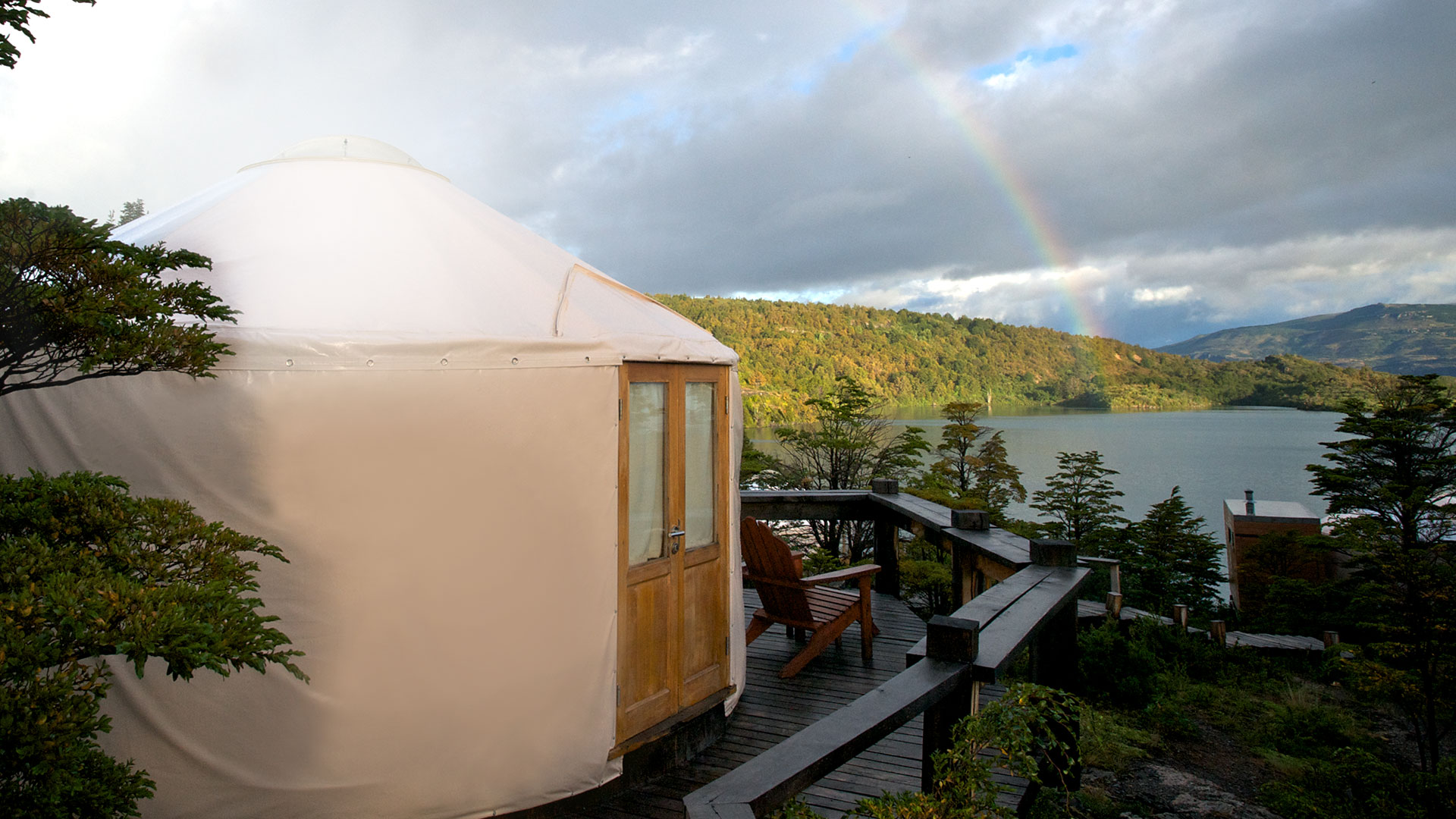 Patagonia Camp yurt overlooking Lago Toro, Torres del Paine, Chile