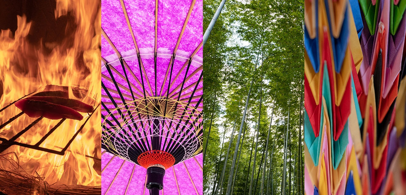 Many colors and textures of Japan.