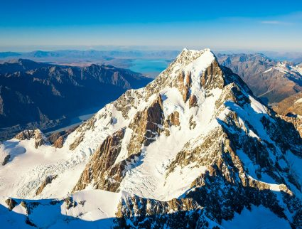 Aerial view of Mount Cook, New Zealand