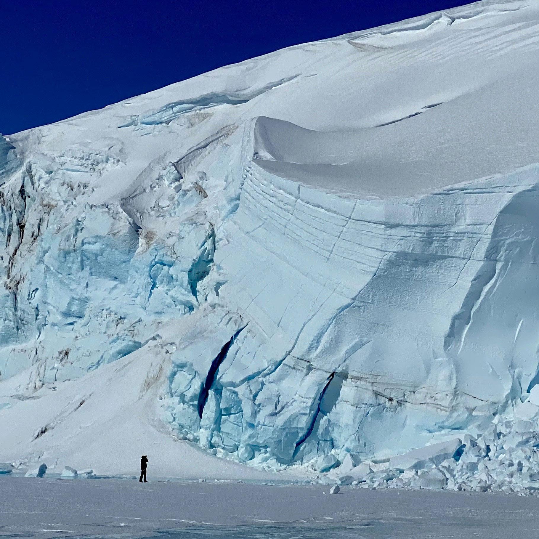 Walking among giant glaciers in Antarctica