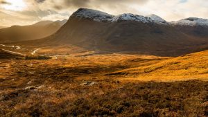 Sunrise in Glencoe, Scotland