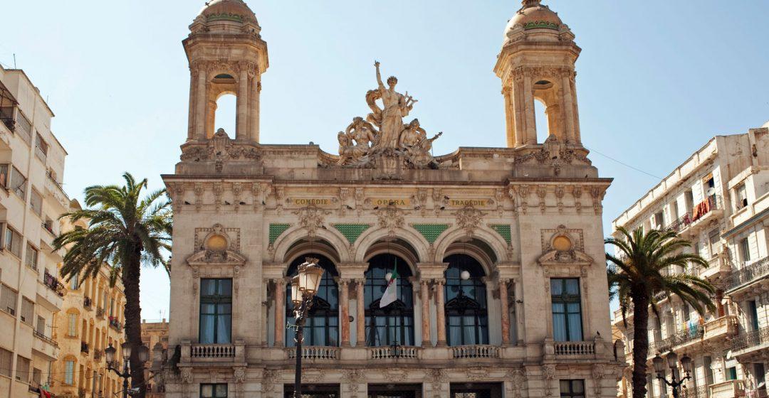 The beautiful facade of Le Theatre d'Oran in Oran, Algeria