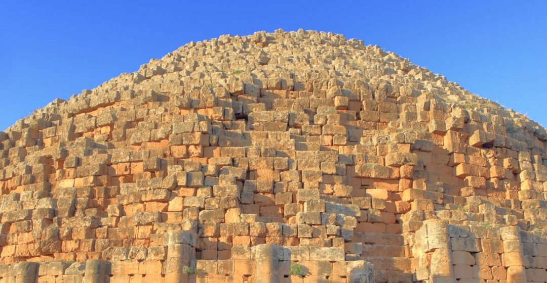 Mausoleum in the UNESCO World Heritage Site of Tipaza, Algeria