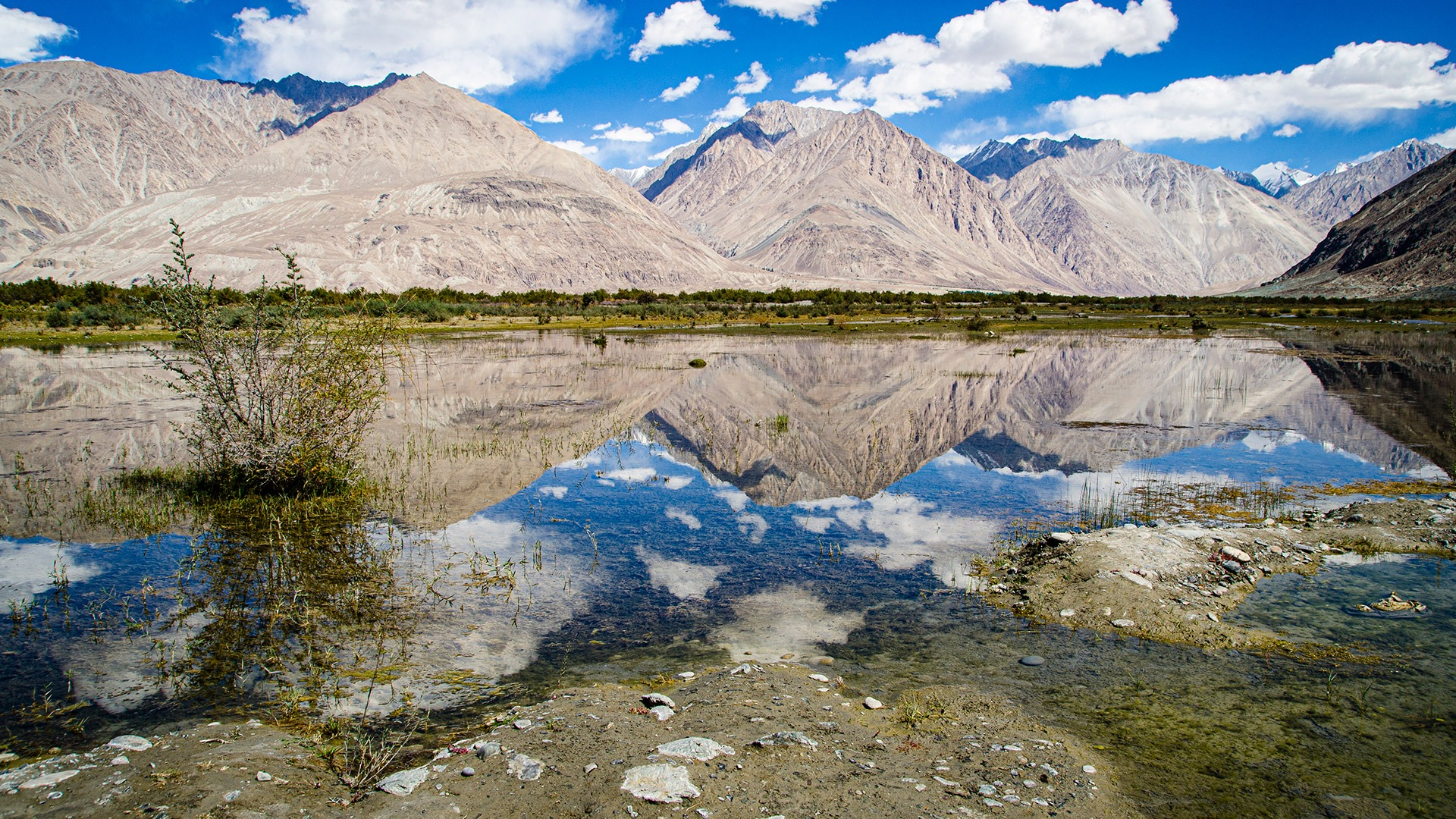 Dramatic landscapes in the Nubra Valley, Ladakh, India
