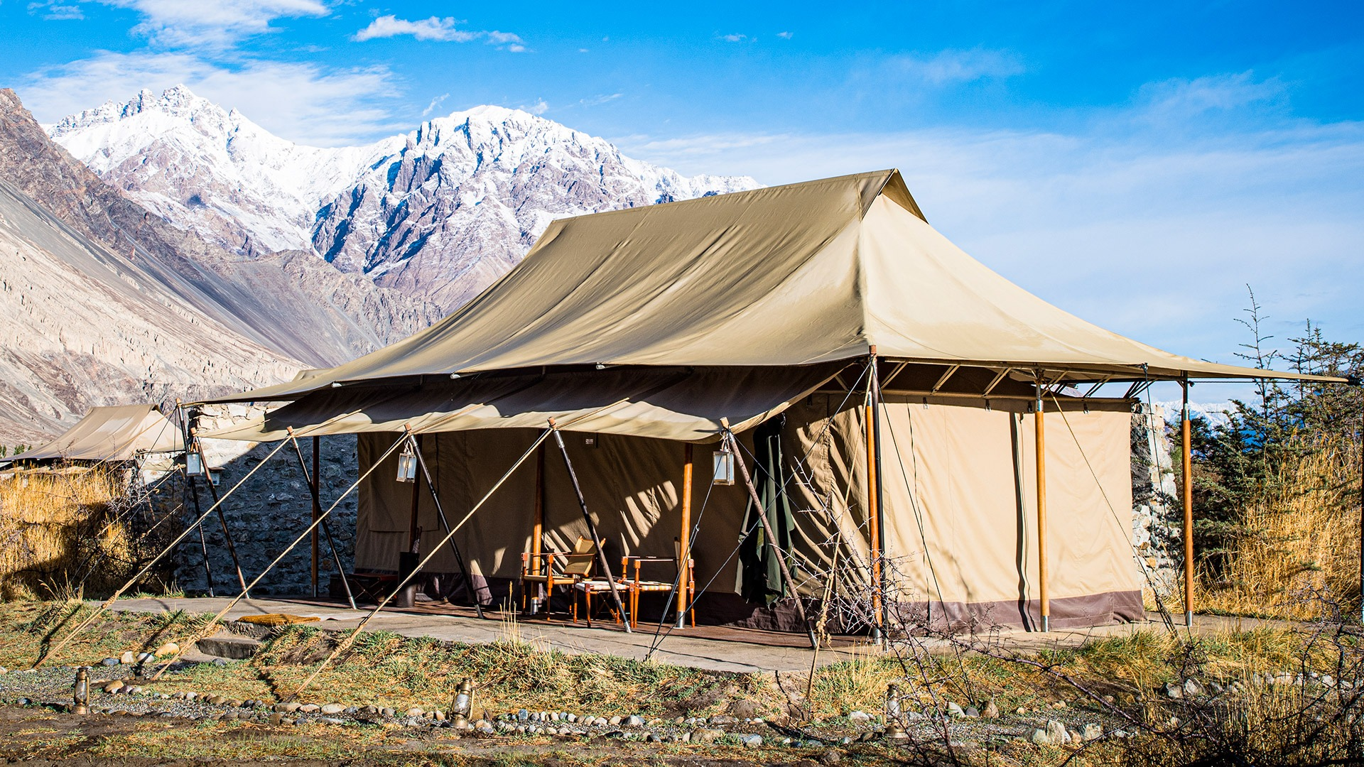 View from tented camp in the Nubra Valley, Ladakh, India