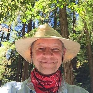 Wanderlust Editor in Chief Don George exploring Muir Woods in California