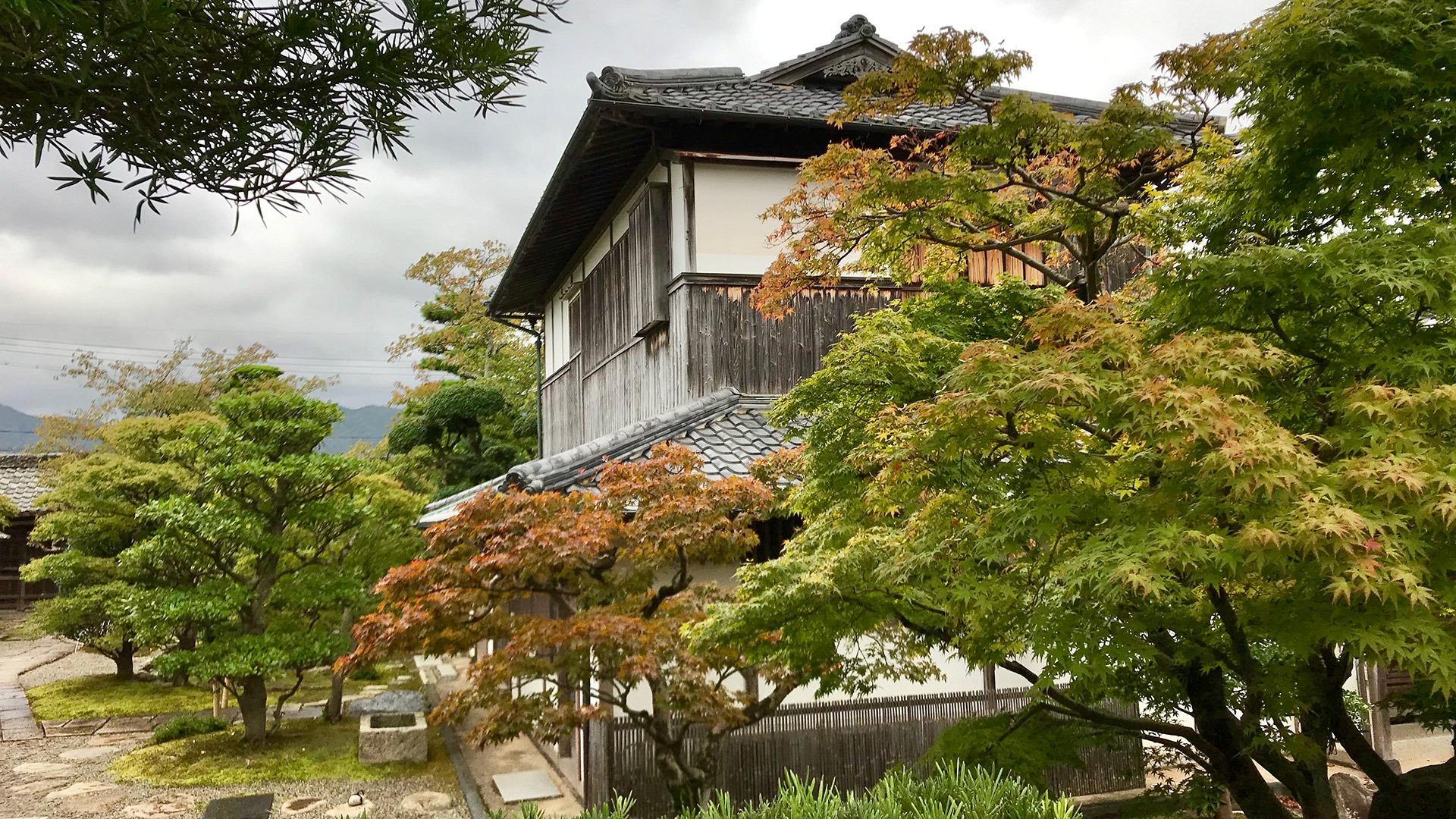 Traditional architecture of the Kikuya Residence in Hagi, Japan