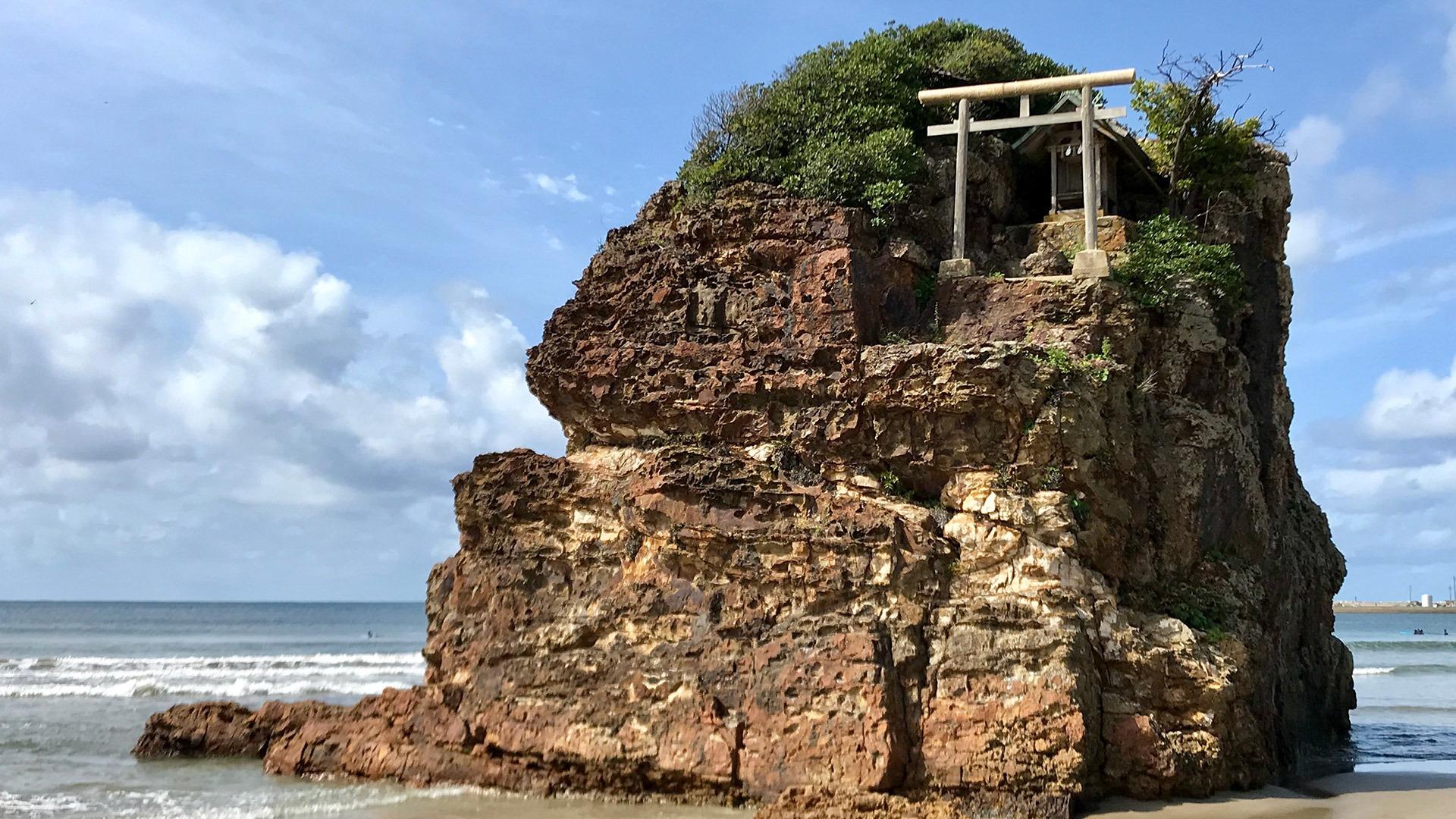Seaside Benten-jima Shrine in Izumo, Japan