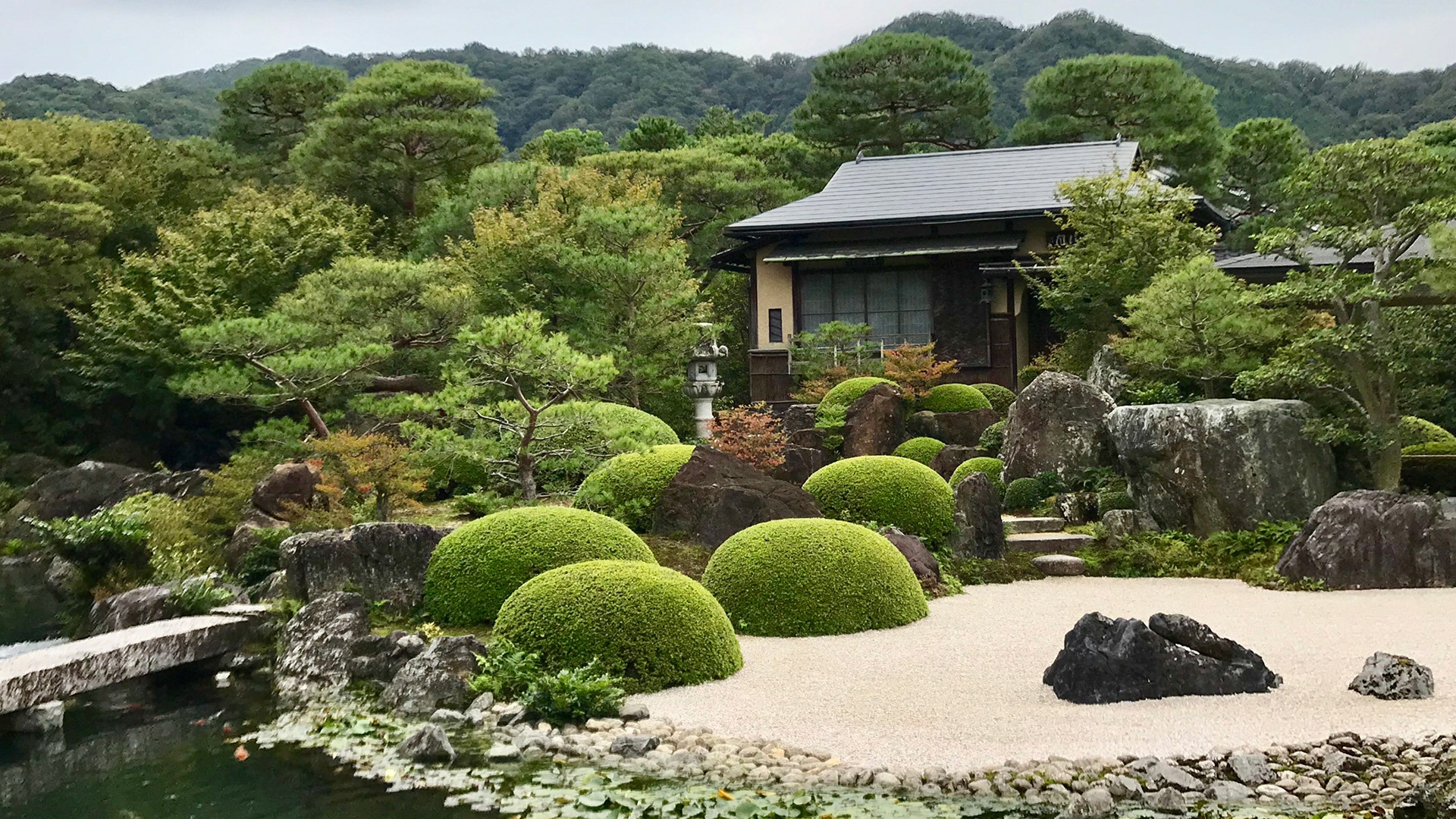 Gardens at the world-renowned Adachi Museum in Matsue, Japan