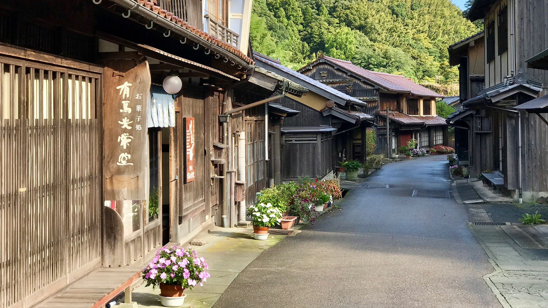 Remarkably restored architecture in the village of Omori, Japan