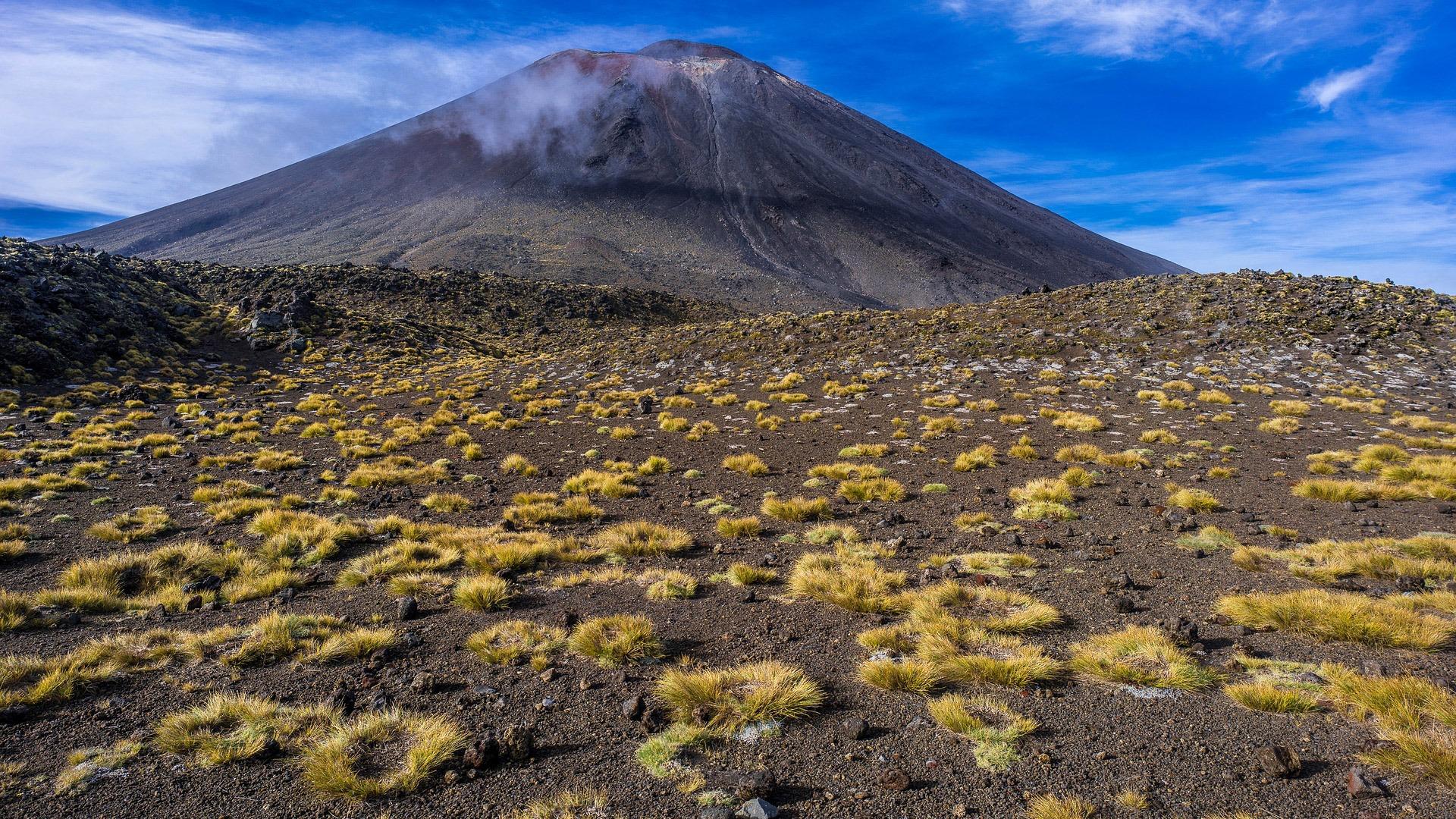 Mount Ngauruhoe in Tongariro National Park, New Zealand