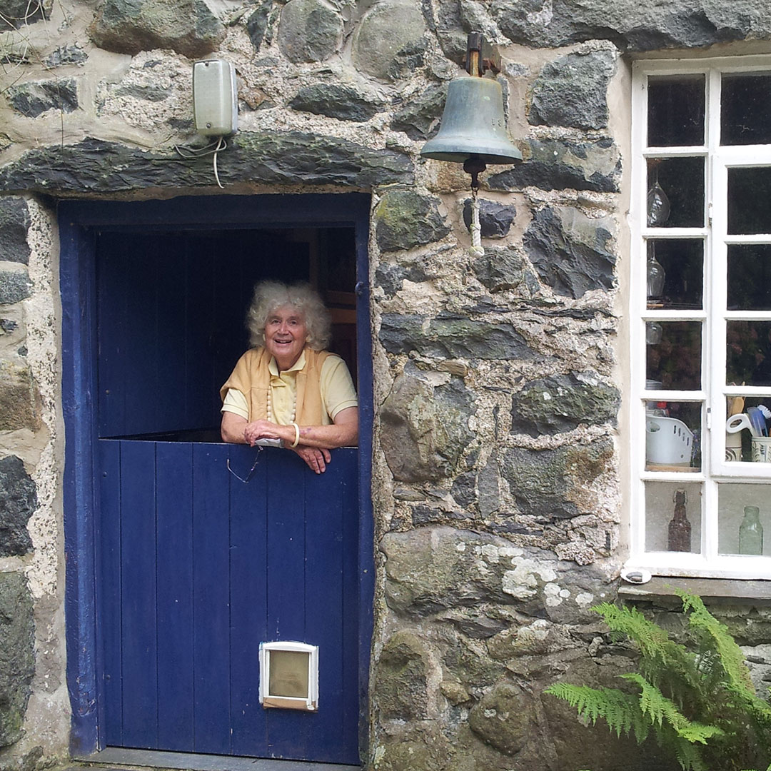 Writer Jan Morris at her home in Wales