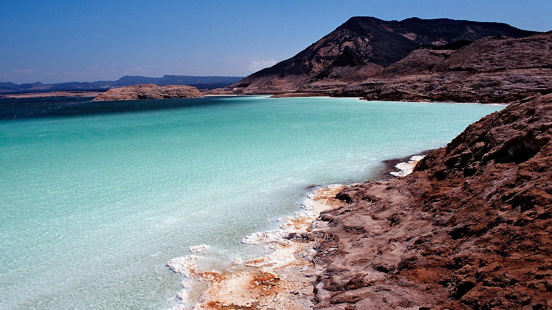 Lake Assal in the Afar Triangle, Djibouti