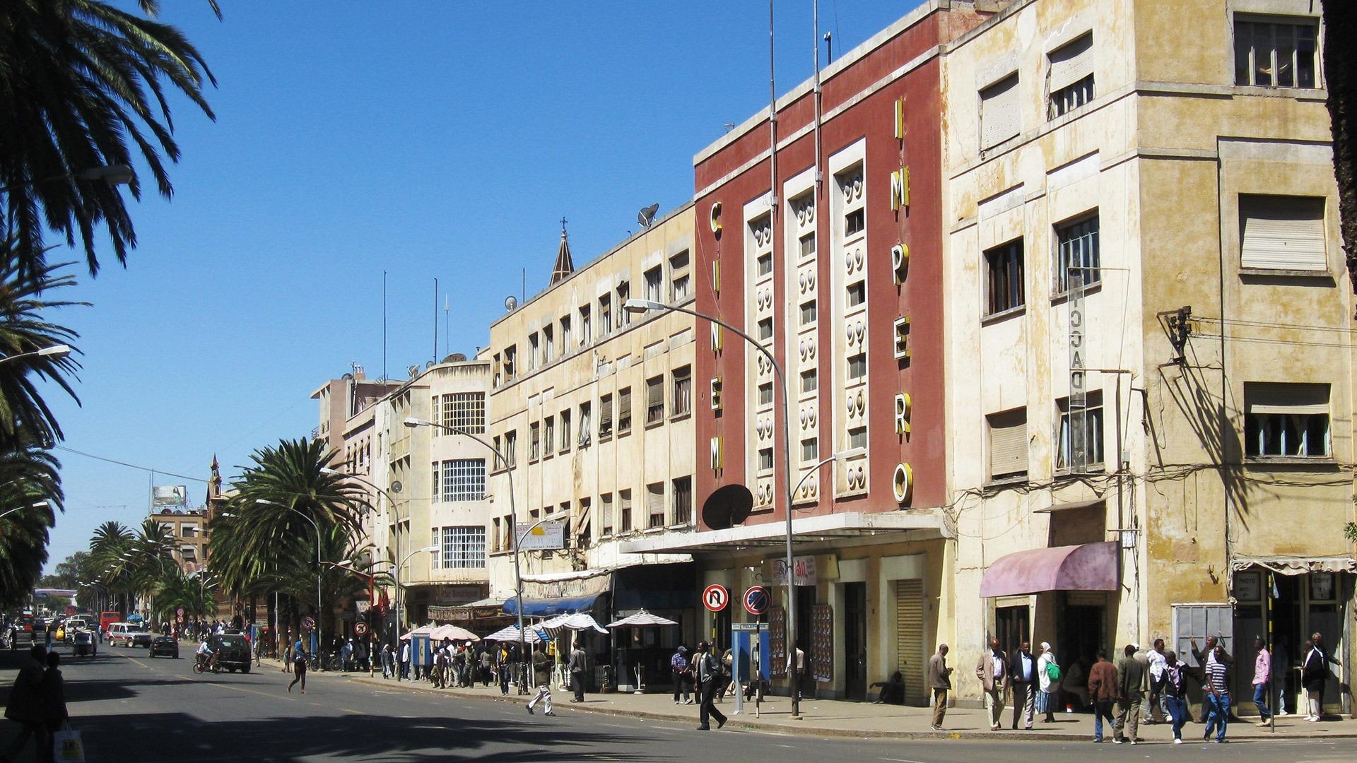 The art deco style Cinema Impero building in Asmara, Eritrea