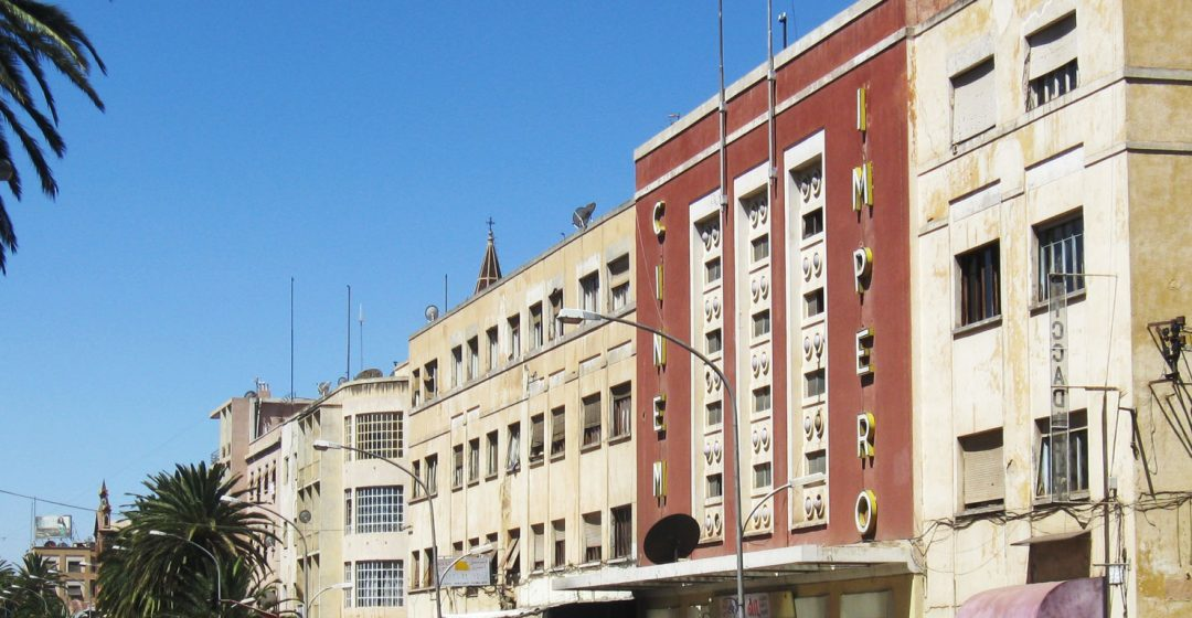 The art deco style Cinema Impero building in Asmara, Eritrea