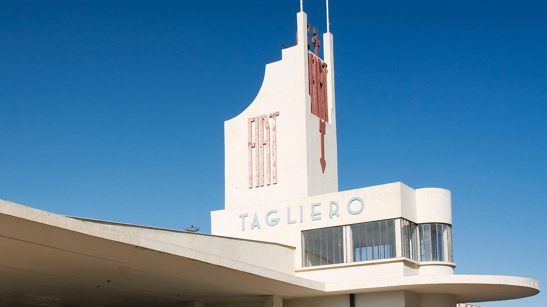 The iconic Fiat Tagliero building in Asmara, Ethiopia