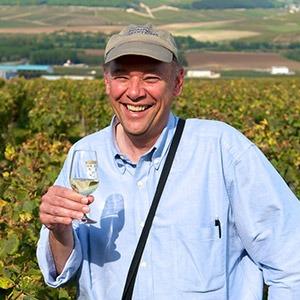 GeoEx Trip Leader Don George at a vineyard in France
