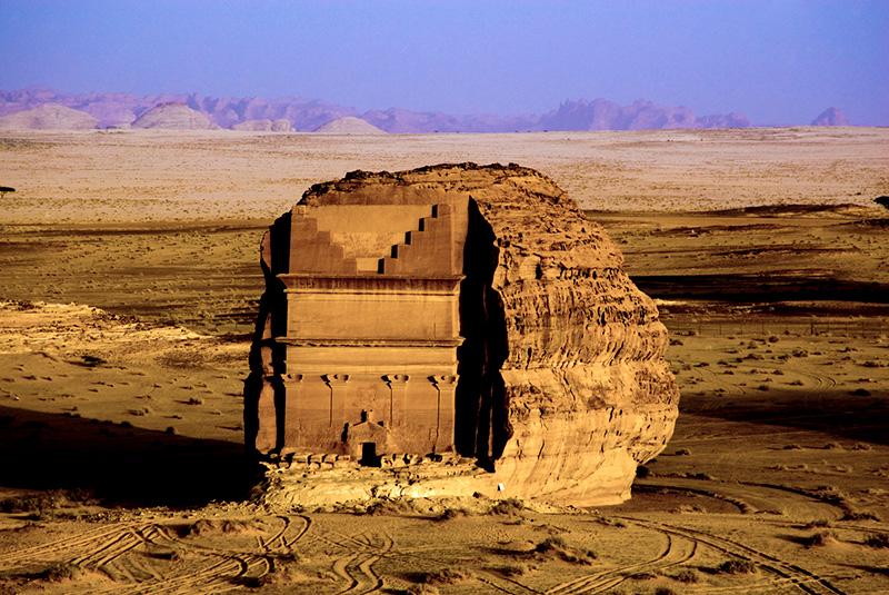 Qasr Farid tomb at Madain Saleh, now known as Hegra, Saudi Arabia