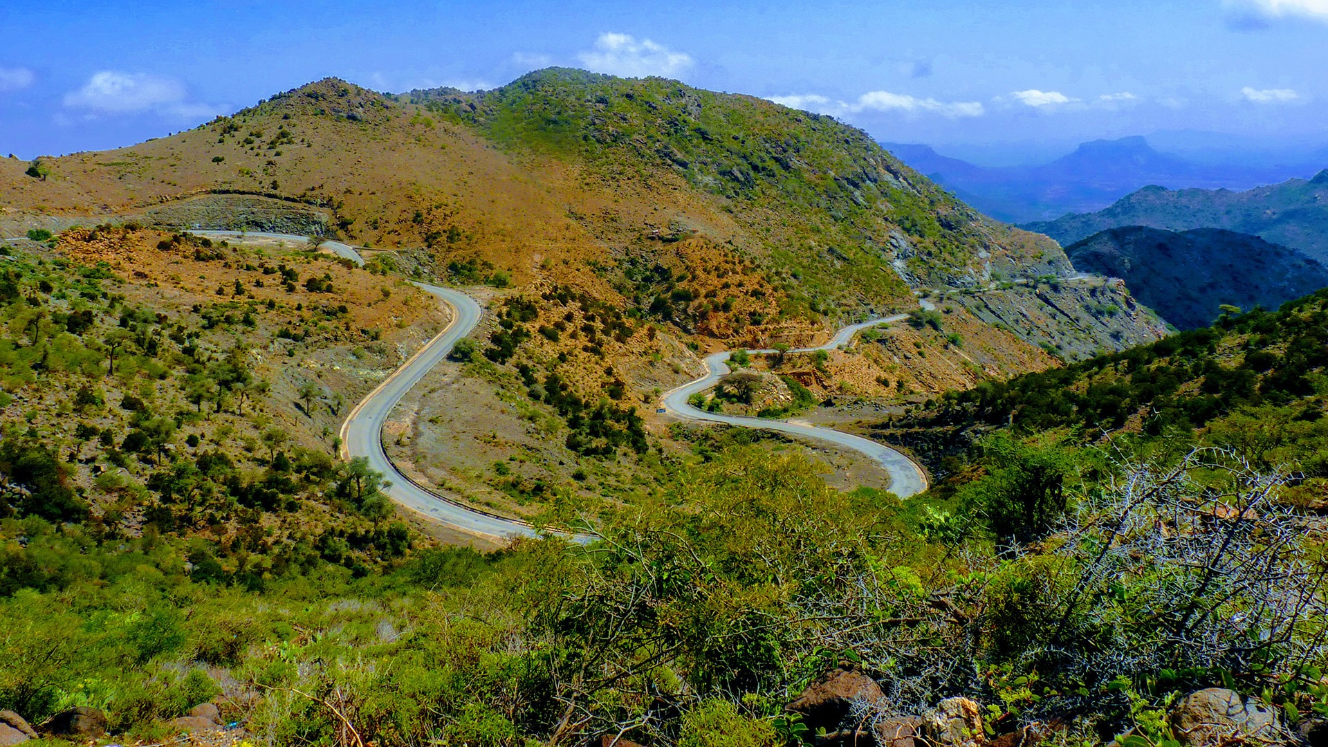 A winding road in the highlands of Somaliland