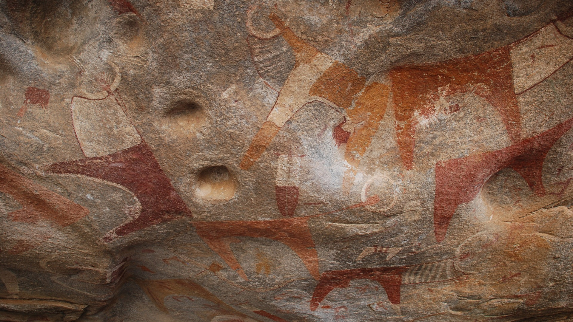 Rock art at the archaeological site of Laas Geel, Somaliland