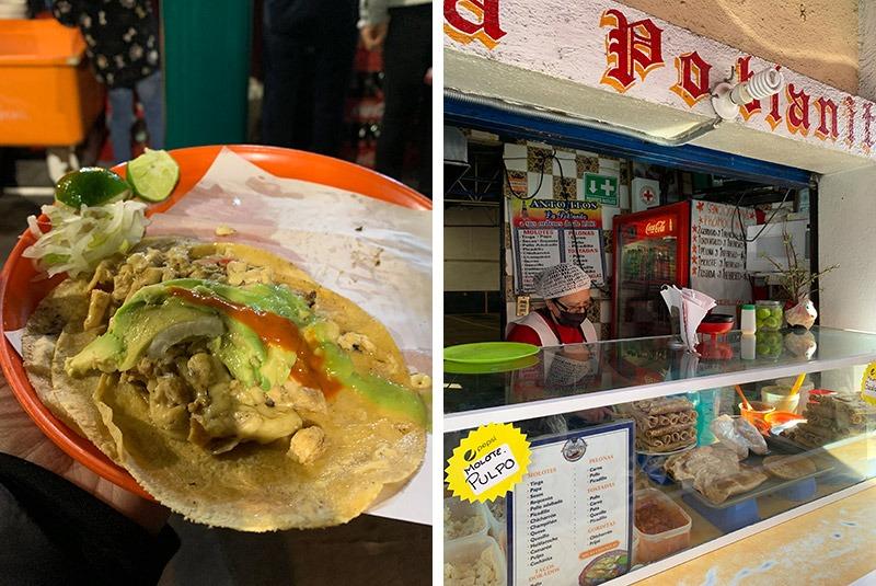Street food in Mexico City and Puebla, Mexico