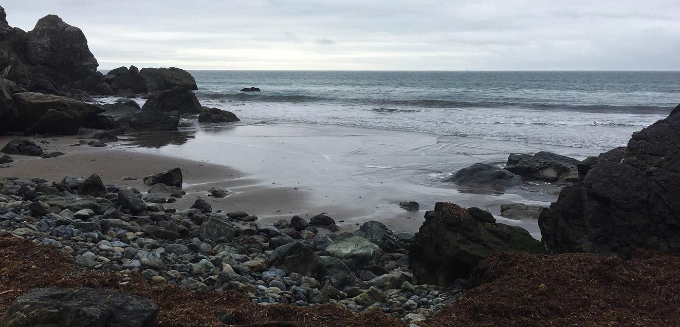 A cloudy day at Stinson Beach, California
