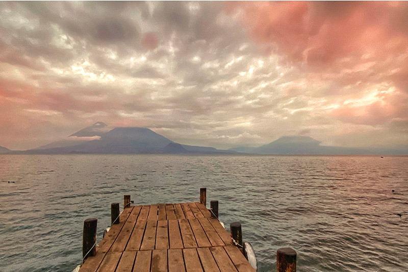 A dock at Lake Atitlan, Guatemala