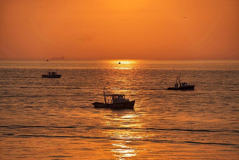 Sunrise on the Caribbean Sea, Livingston, Guatemala