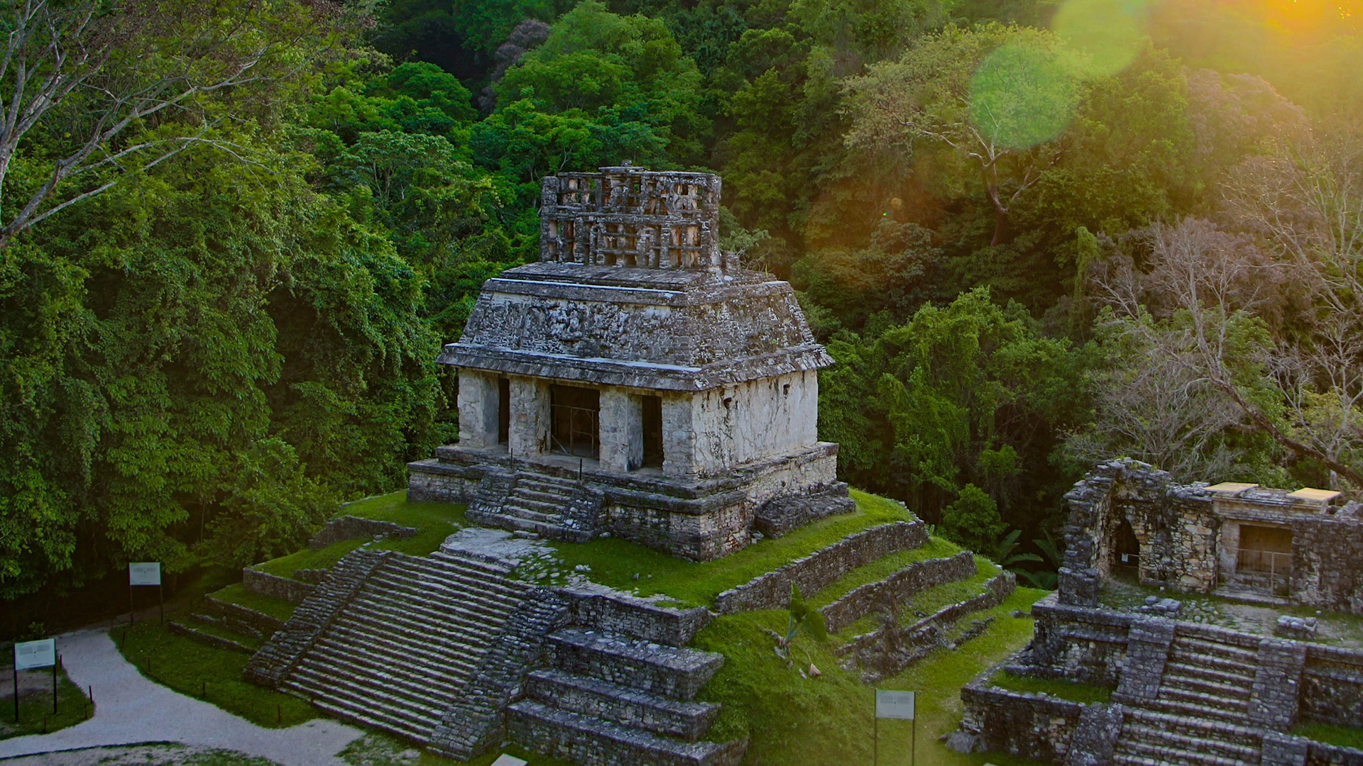 Temple of the Count at the Maya ruins of Palenque, Mexico