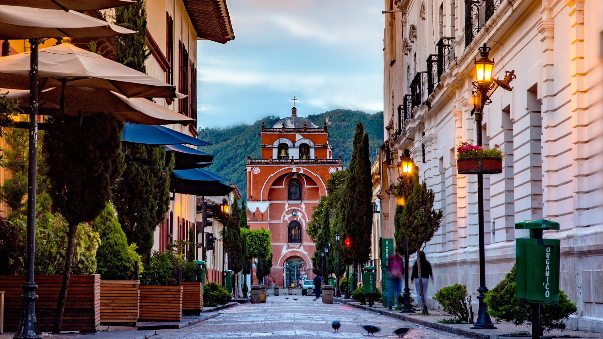 Charming streets of San Cristobal de las Casas, Mexico