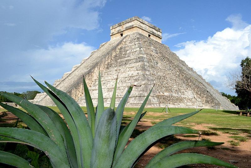 El Castillo step pyramid at Chichen Itza, Mexico