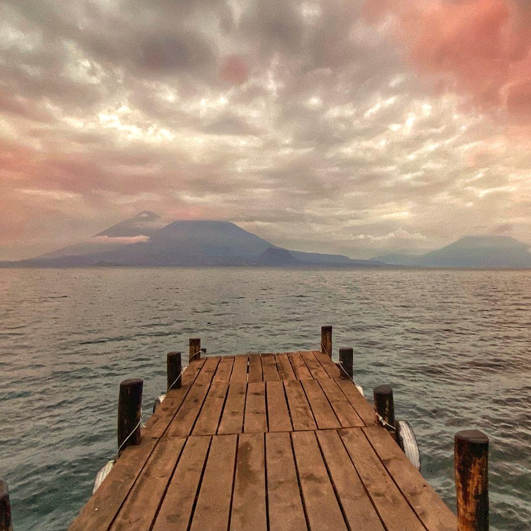 A dock on Lake Atitlan, Guatemala