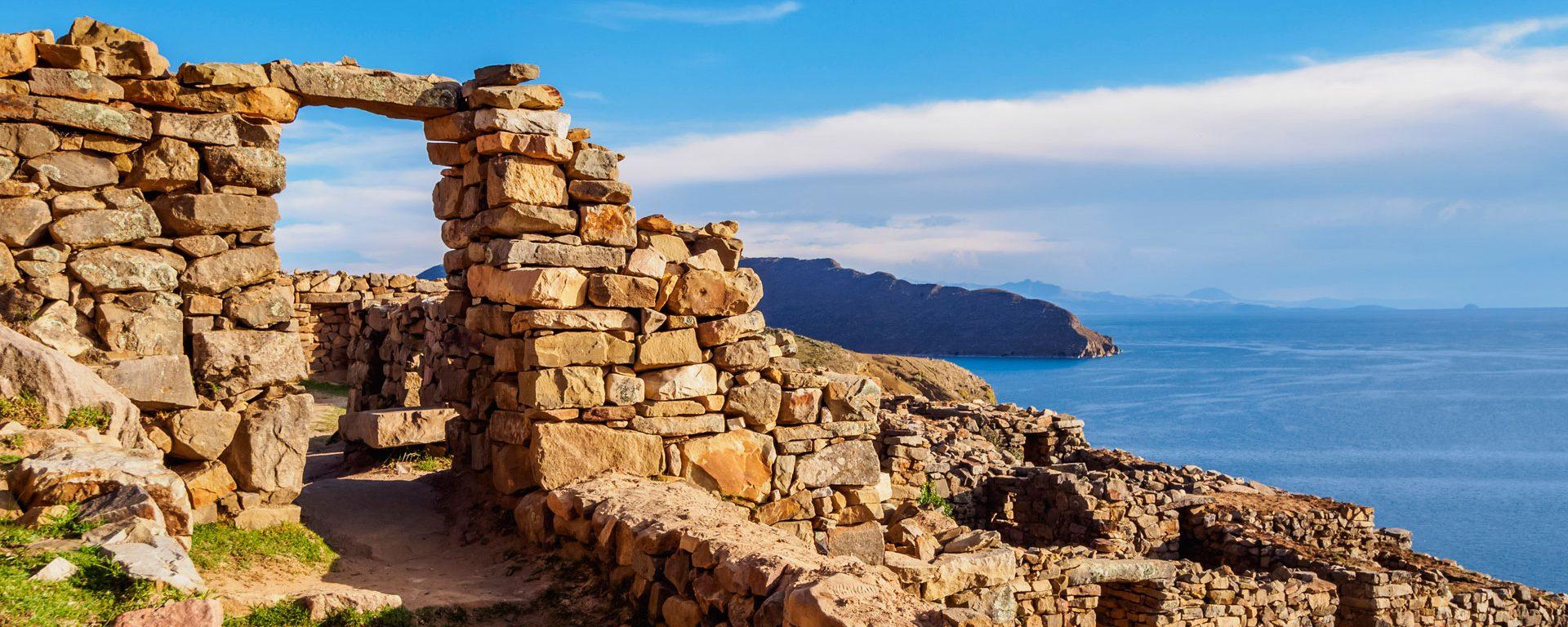 Chinkana Ruins on Isla del Sol, Titicaca Lake, Bolivia