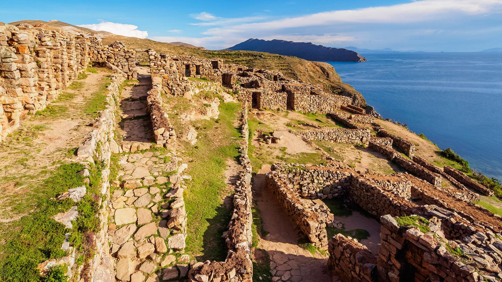 Chinkana Ruins on Isla del Sol, Lake Titicaca, Bolivia