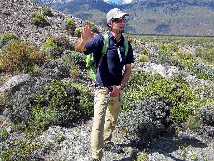 GeoEx Trip Leader Merlin Lipshitz in Patagonia