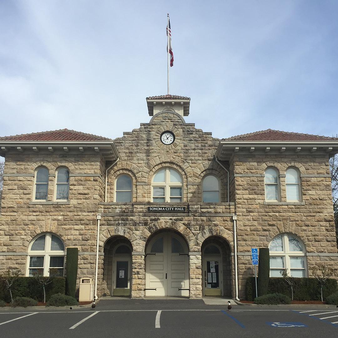 Town hall building in Sonoma, California
