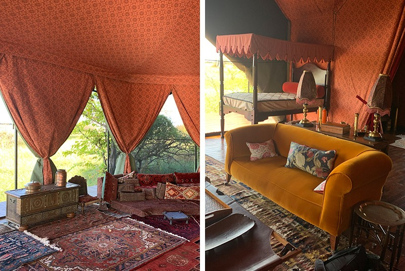 The quirky interior at Jack's Camp in the Makgadikgadi Pans, Botswana