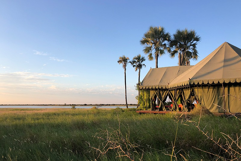 Main tent at Jack's Camp in Botswana