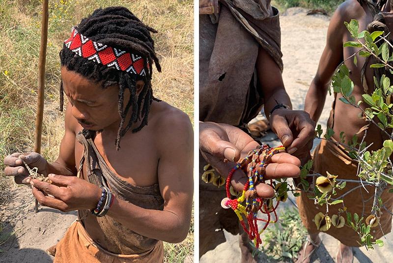Meeting the local San tribe in the Makgadikgadi Pans, Botswana