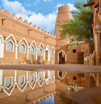 Ushaiqer heritage village in Saudi Arabia