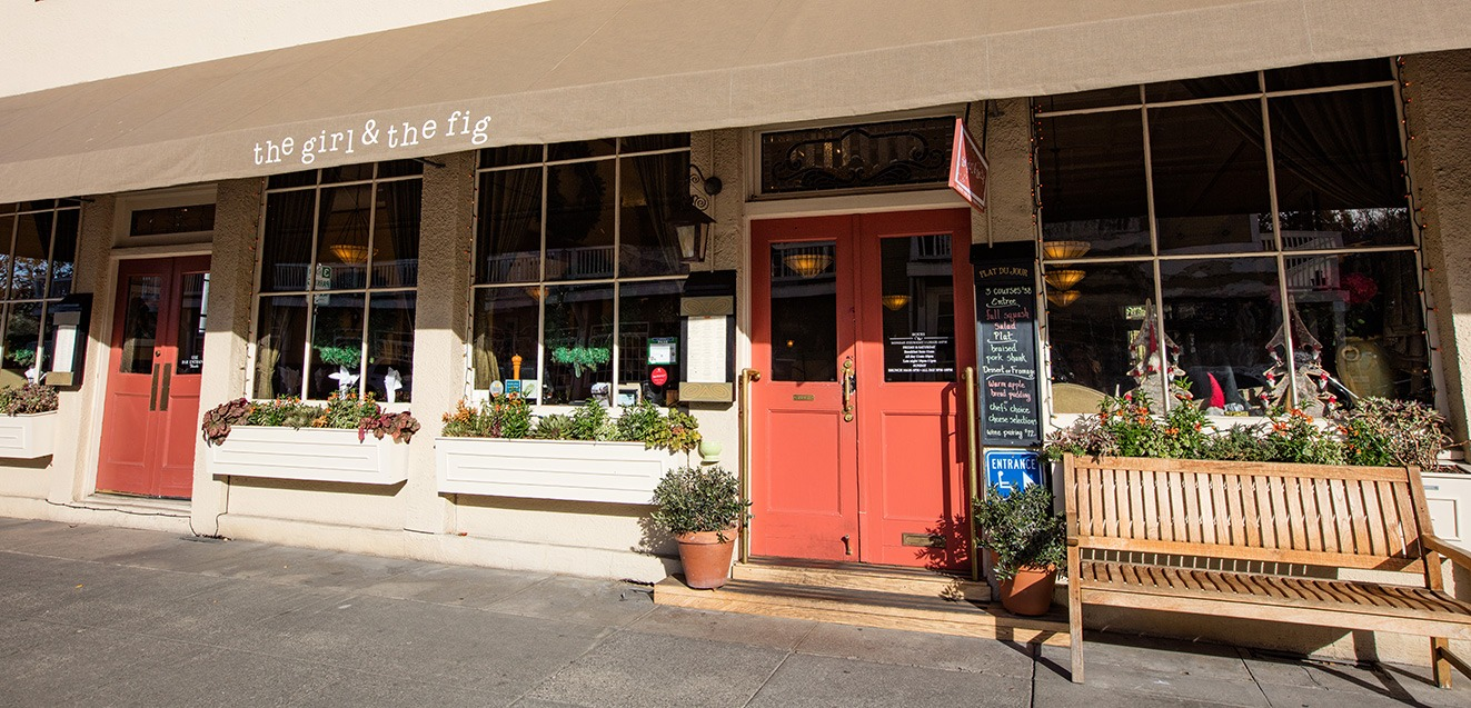 Entrance to The Girl and the Fig in Sonoma, California