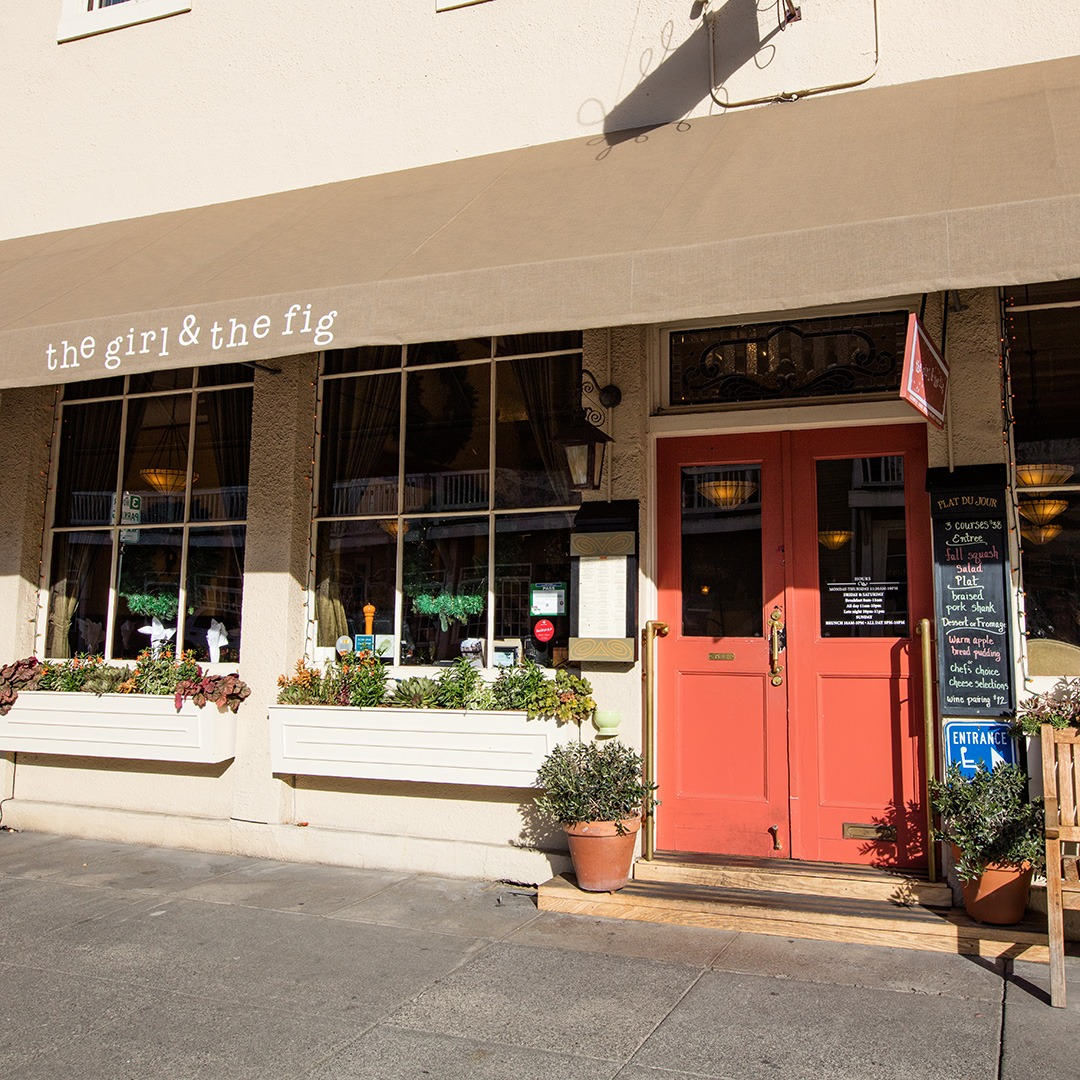 Entrance to The Girl and the Fig, Sonoma, California